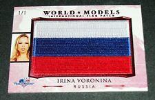 New listing 2017 Benchwarmer Irina Voronina America the Beautiful Russia Flag #1/1 Playboy