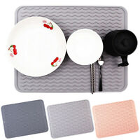 Foldable Silicone Dish Draining Mat Drainer Kitchen Wash Up Tray Drying Mat Crea