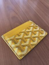 Goyard Saint Sulpice Card Holder Goyardine Yellow USED PERFECT CONDITION