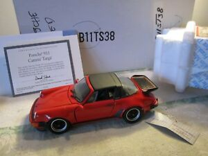 Franklin Mint 1988 Porsche Carrera 911 Targa 1:24  b11ts38 RED