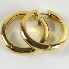 ESPRIT Ohrringe Creolen Ohrschmuck Kreolen PURE GOLD Edelstahl vergoldet Schmuck