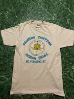 Vintage 90s Chippewa Indian tribe T-shirt size M Made In Usa Single Stitched Vtg