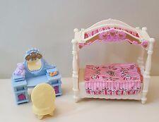 Fisher Price LOVING FAMILY GIRL DAUGHTER BEDROOM SET Bed Vanity Chair