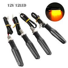 4x Universal LED Motorcycle Indicators Turn Signals Light 12V fit Harley Bobber