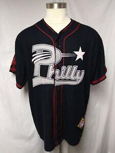 VTG Philly Stars NLB Jersey Sz 2XL Black Ball Classics Negro League Baseball