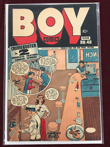 BOY COMICS 40 CANADIAN ED Professionally Graded FN/VF 7.0