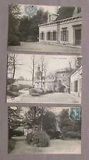 Lot de 3 CPA 70 Haute-Saône. Gray. Musée, tour du château, jardin...