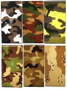Eclipse Hard Plastic Crushproof Army Camo Color Cigarette Case, 2ct, 100s, 3117C