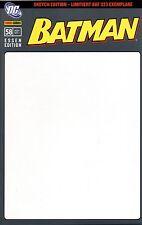 Batman # 58 (allemand) Blank sketch variant Cover Lim. 333 ex. Bande dessinée Action 2011