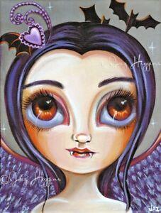 Violet Vampiress Art Print SIGNED & dated by artist Jaz Higgins Gothic Vampire