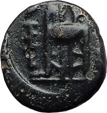 PHILIPPI in MACEDONIA 356BC Authentic Ancient Greek Coin HERCULES TRIPOD i59705
