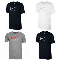 Nike Tri-Blend Air Hybrid Logo Mens T Shirt Cotton Tee Top Black Grey White