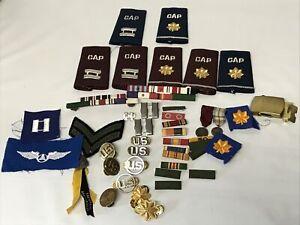 Vintage  US AIR FORCE    CIVIL AIR PATROL Cap Uniform Badges & More