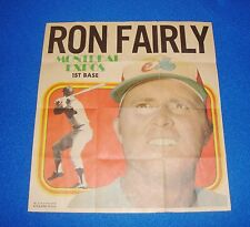 Vintage Topps Baseball Insert Poster Ron Fairly Expos