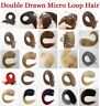 "16""18""20""22"" Double Drawn Micro Loop Ring Bead 1G Remy Human Hair Extensions USA"