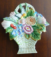 Fitz and Floyd Old World Rabbits Canape Plate Flower Basket with original box