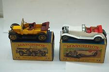 VINTAGE MATCHBOX CARS Y-13 Y-10 MERCEDES BENZ 36/220 1911 DAIMLER BOX LOT 2 TOY