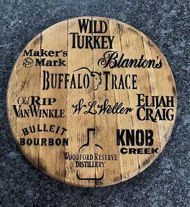 "Buffalo Trace Distillery/ KY Bourbon Barrel Whiskey Head / Top 21"" Dia"