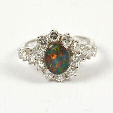 juwelen-ring CON OPALE tripletta und BRILLANT 1,40 ct W.Argento