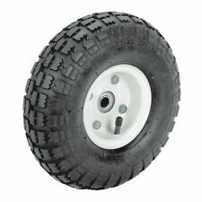 H10 in. Pneumatic Tire with White Hub Heavy Duty Steel Dollies Wagons Carts Roll
