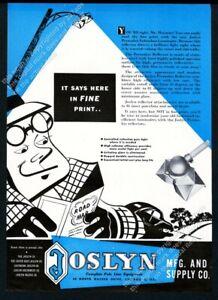 1949 Joslyn streetlight street light photo vintage trade ad 2