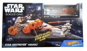 Hot Wheels Star Wars Star Destroyer Assault Playset Die Cast X-Wing Fighter