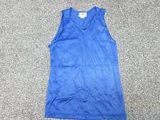 Vintage Teamwork blue mesh nylon basketball tank jersey shirt Mens S Small New
