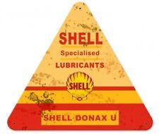 Shell specialised lubricants Donax U Petrolio Retrò VINTAGE SIGN IN LAMIERA SCUDO SCUDO