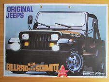 Jeep Wrangler Laredo Yukon Prospektblatt, brochure sheet, 2/87