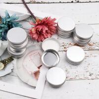 30Pcs Small Screw Round Lip Metal Tin Storage Jar Balm Containers & Lids Travel