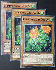 Set 3X CHIMICREATURA Oxy Ox Chemicritter INOV-IT025 Comune in Italiano YUGIOH