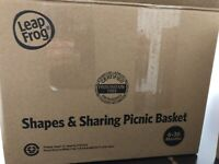 Leapfrog Shapes And Sharing Picnic Basket, Pink. Frustration Free Packaging
