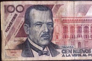 MEXICO 1992 $100 NUEVOS PESOS ELIAS CALLES Serie K (V5526978) NICE NOTE