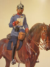 VINTAGE PRINT KAISER'S GERMAN ARMY ~ MAJOR BADISCHES LEIB DRAGONER REGIMENT