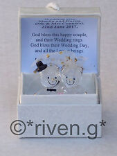 Bride and Groom Bears@Glass@PERSONALISED Card Verse@WEDDING Gift@HUSBAND & WIFE