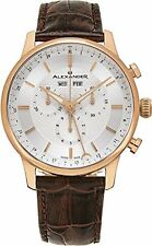 Alexander Statesman Brown Leather Swiss Rose Gold Mens Chronograph Watch A101-05
