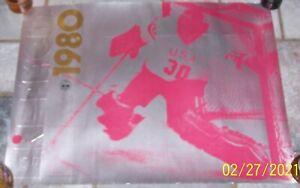 VINTAGE 1980 LAKE PLACID OLYMPICS JIM CRAIG HOCKEY POSTER