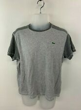 LACOSTE SPORT Mens T-Shirt Top 5 L Large Grey Cotton