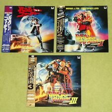 BACK TO THE FUTURE Trilogy 1, 2, 3 II, III - RARE JAPAN 3 x LASERDISC SET + OBI