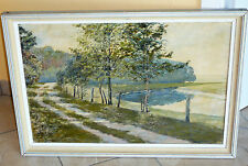 Landschaft an der Aller - Öl / Platte - signiert O. Wundram