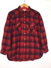 Vtg Pendleton Red Plaid Shirt Wool Size XL High Grade Western Lumberjack