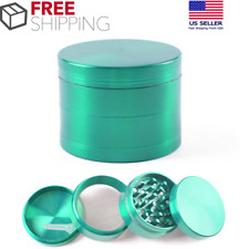 40mm Herb Tobacco Spice 4-Layers Grinder Zinc Alloy Metal Crusher Green Color