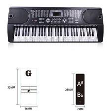 Fast memory of the keys 49, 54, 61 88 KEY Keyboard Piano Stickers E7C