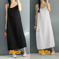 Women Strappy Summer Slip Dress Party Beach Dresses Kaftan Loose Long Maxi Dress