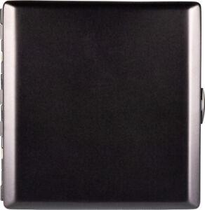 Jean Claude Cigarette Case 20 King Size / Metal Brass Black / Clasp /2seitig