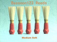 * 5 Bassoon123 Bassoon Reeds. NEW, Standard. Medium Soft