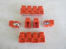 50 Pack Cat-6 Keystone Jacks in Orange **TUFF JACKS QUALITY** Lifetime Warranty