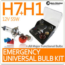 Halogen Light Globes Fuse H7 H1 12V 55W Spare Signal Bulbs Car Emergency Kit