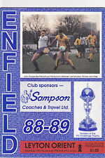 ENFIELD V LEYTON ORIENT FA CUP 19/11/88