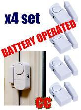 Battery operated window door house alarm set garage motorhome burglar WIRELESS